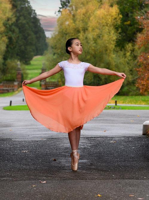 Circle Rehearsal Skirt Tangerine