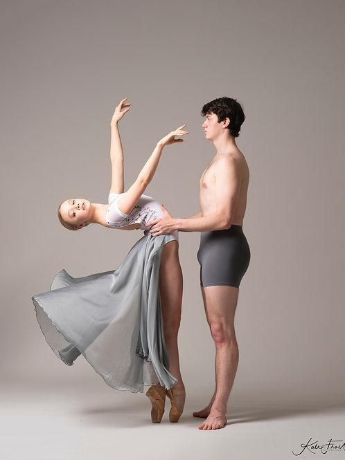 Silver Jessica Full Length Skirt