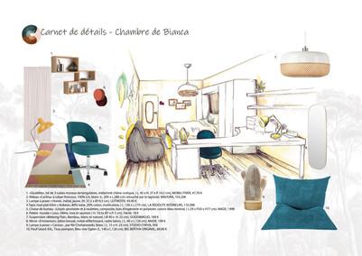 Carnet de détail d'une chambre d'enfant