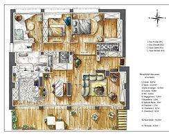 plan d'aménagement colorisé