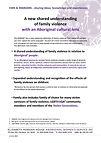 Shared understanding of Family Violence.