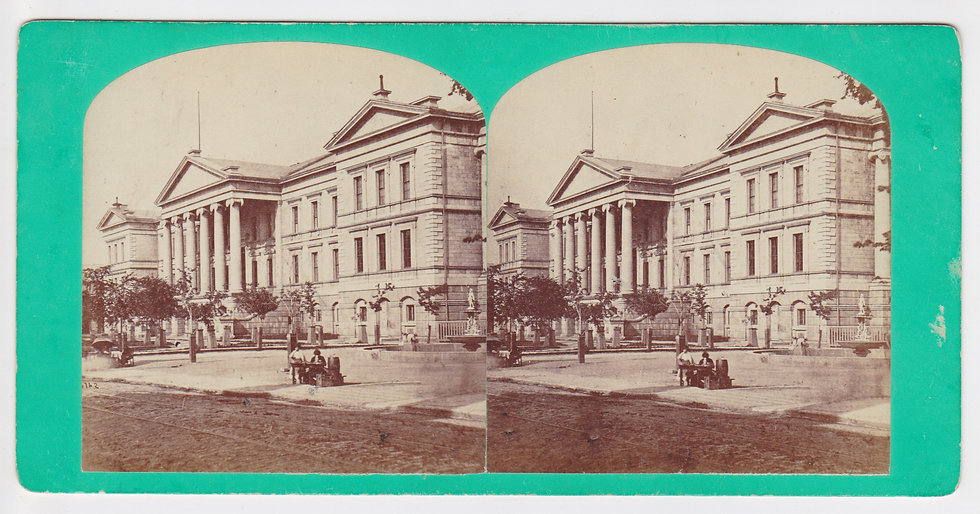 Early stereoview of the Court House in Montreal Canada c. 1867/70