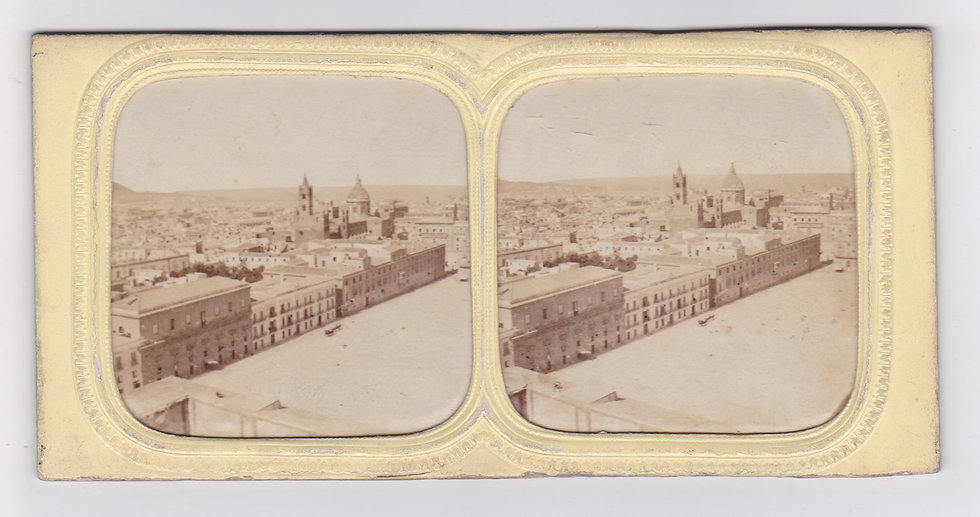 Early panorama of Palermo, Sicily - Tissueview attr. to A. Gaudin ca.1860