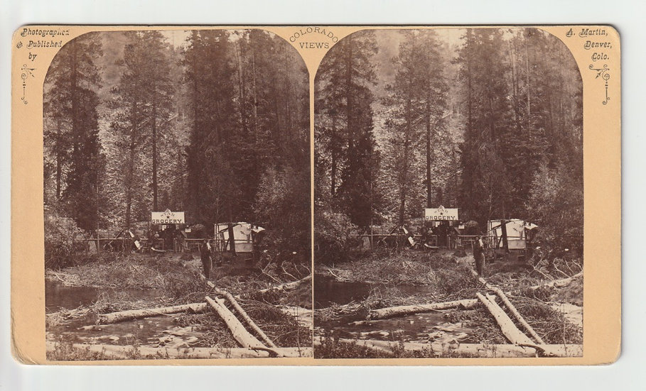 Grocery - Rocky Mountain Stereoscopic View Eagle River Series, Alex Martin