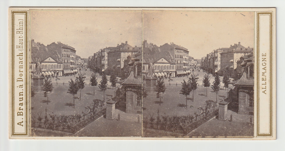 Stereoview of Frankfurt, Germany by Adolphe Braun c.1865/70