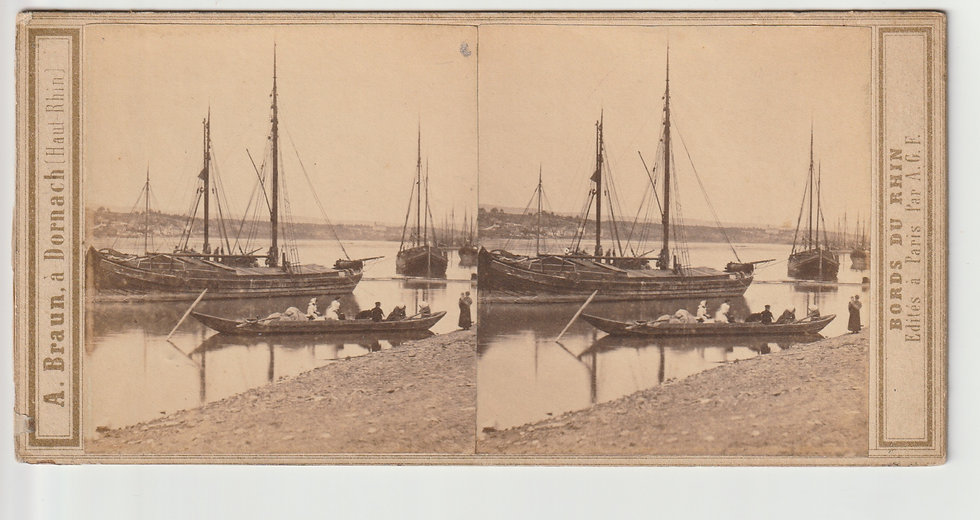 Stereoview of Andernach, Germany by Adolphe Braun. c1865/70