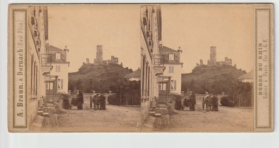 Stereoview of Godesberg, Germany by Adolphe Braun. c1860/65
