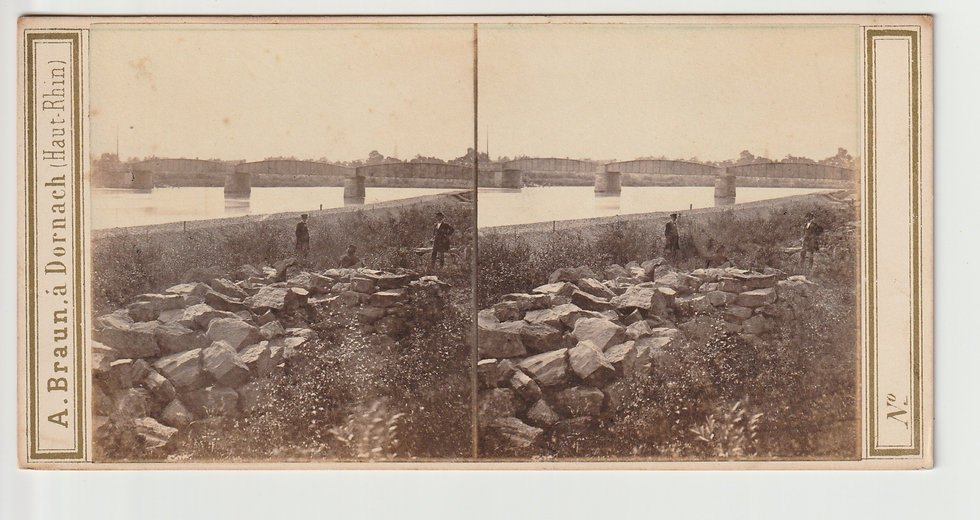 Stereoview of Strasbourg, Germany by Adolphe Braun. c1865/70