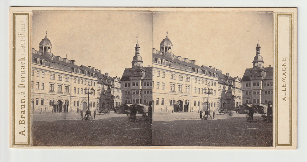 Stereoview of Eisenach, Germany by Adolphe Braun c.1865/70