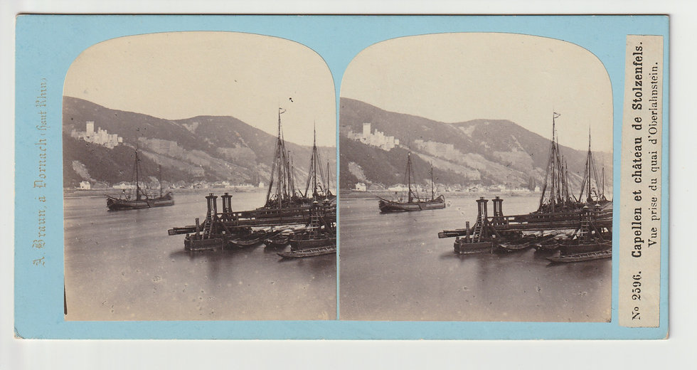 Stereoview of Oberlahnstein, Germany by Adolphe Braun c.1865/70