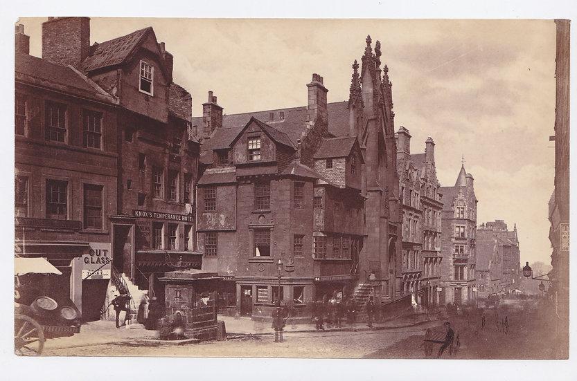 John Knox's Temperance Hotel, Edinburgh - by George Washington Wilson c1875