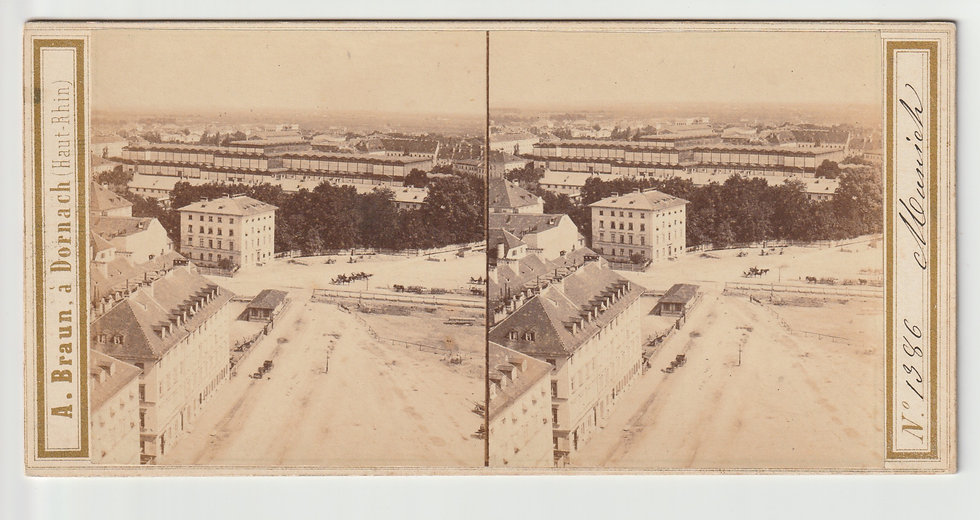 Stereoview of Munich, Germany by Adolphe Braun c.1865/70