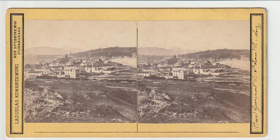 St Jean de Luz, Stereoview - Ladislas Konarzewski 1870s