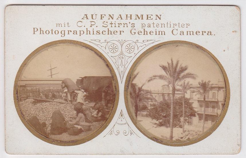 C.P. Stirn's Geheim Camera – Alexandria c1890