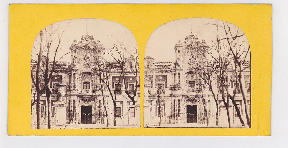 Early stereoview of Sevilla, Spain - L' Andalousie - Furne & Tournier 1858/1860