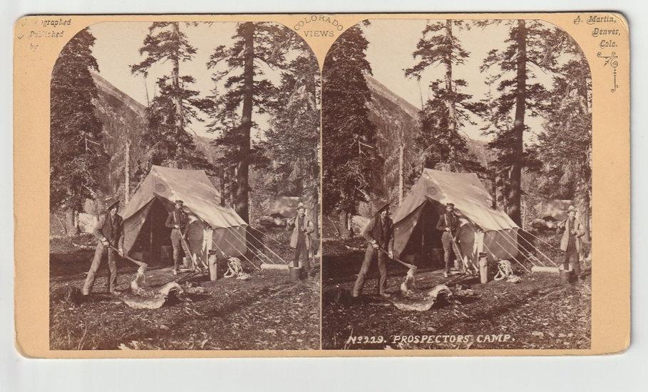 Prospectors' Camp, Alex Martin, Stereoview 1870s
