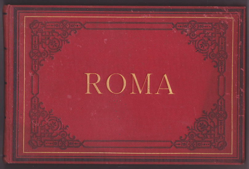 Early Ricordo di Roma - Photo album of Rome - Italy - 1870s
