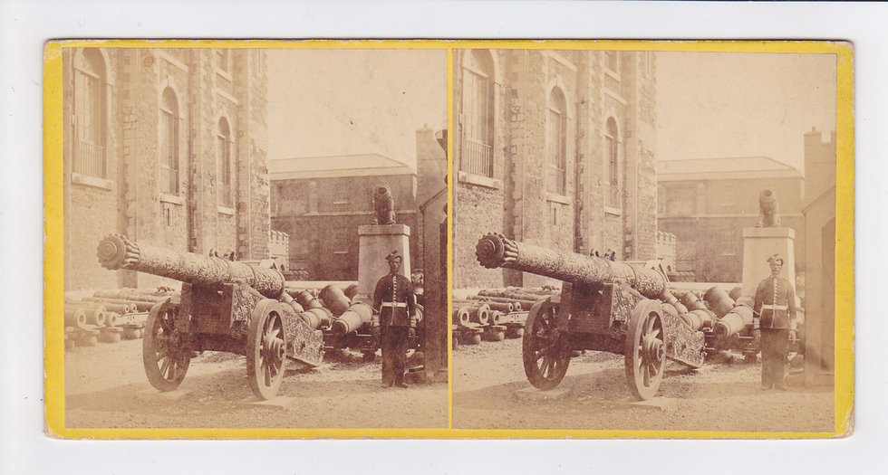 Trophy of Guns, the Tower of London - Stereoview by J. Davis Burton c1864