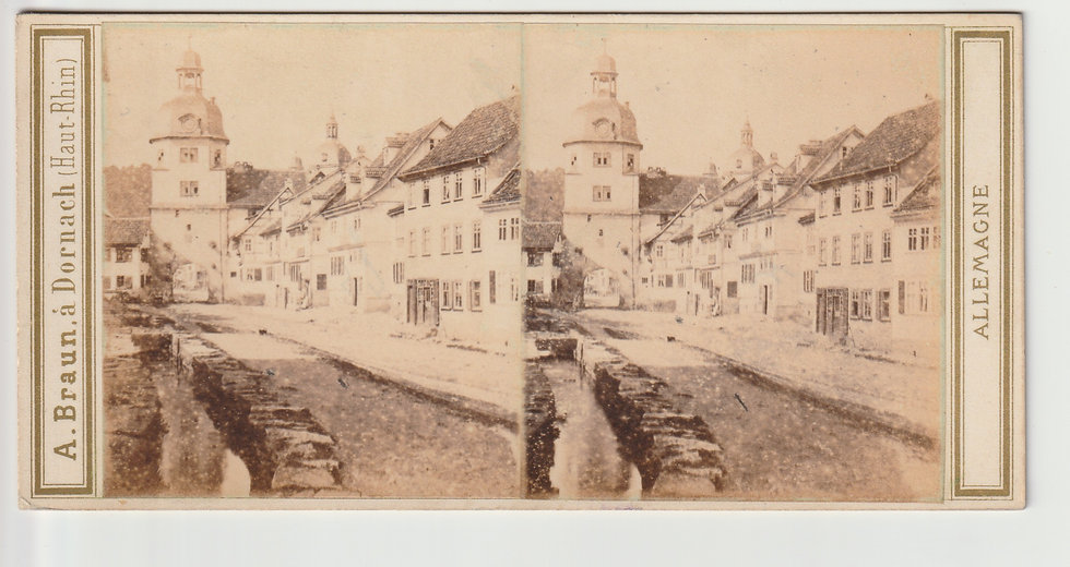 Stereoview of Waltershausen, Germany by Adolphe Braun 1860/65