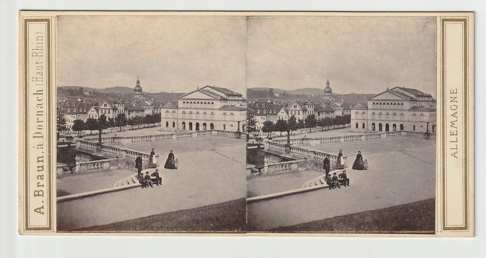 Stereoview of Coburg, Germany by Adolphe Braun c.1865/70