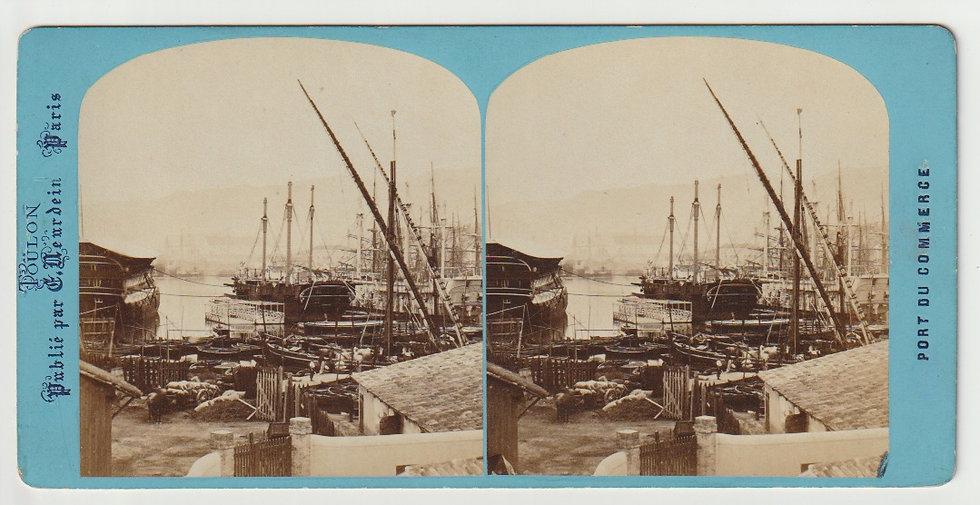 Stereo - Toulon - Port de commerce - Neurdein - 1870