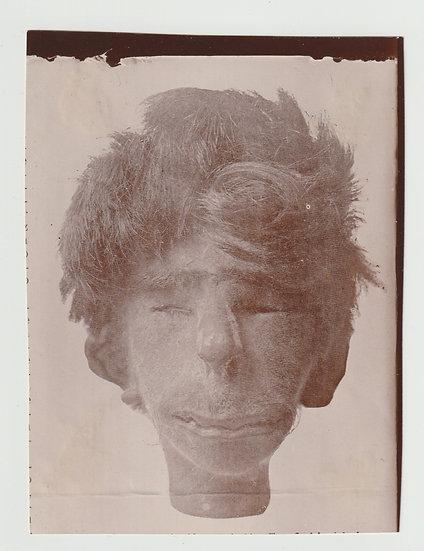 Photograph of a South American Shrunken Head c. 1930, probably Peru