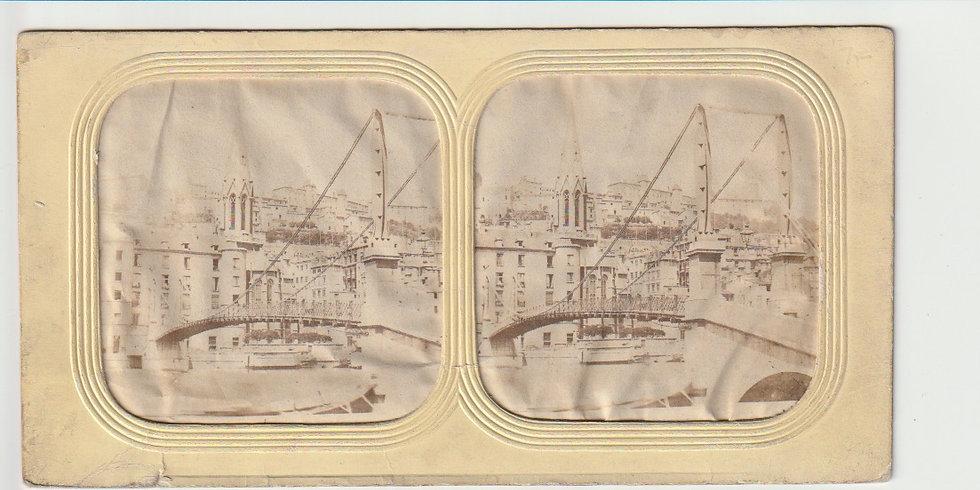Early tissueview - Pont sur la Saône à Lyon 1860