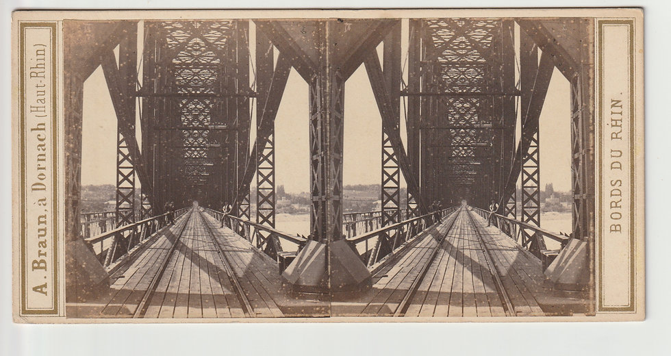 Stereoview of Mayence / Mainz, Germany by Adolphe Braun. c1865/70