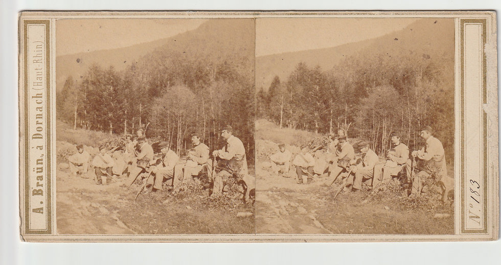 Stereoview of French soldiers by Adolphe Braun c.1865/70