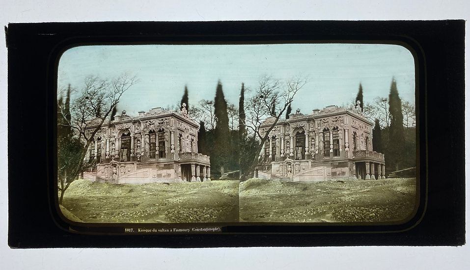Glass stereoview of Constantinople, Kiosque du Sultan Flamour, c1860