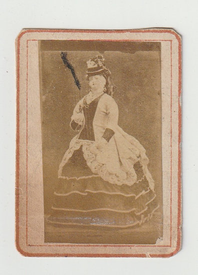 Rare photographic advertising card for a French doll manufacturer c. 1855