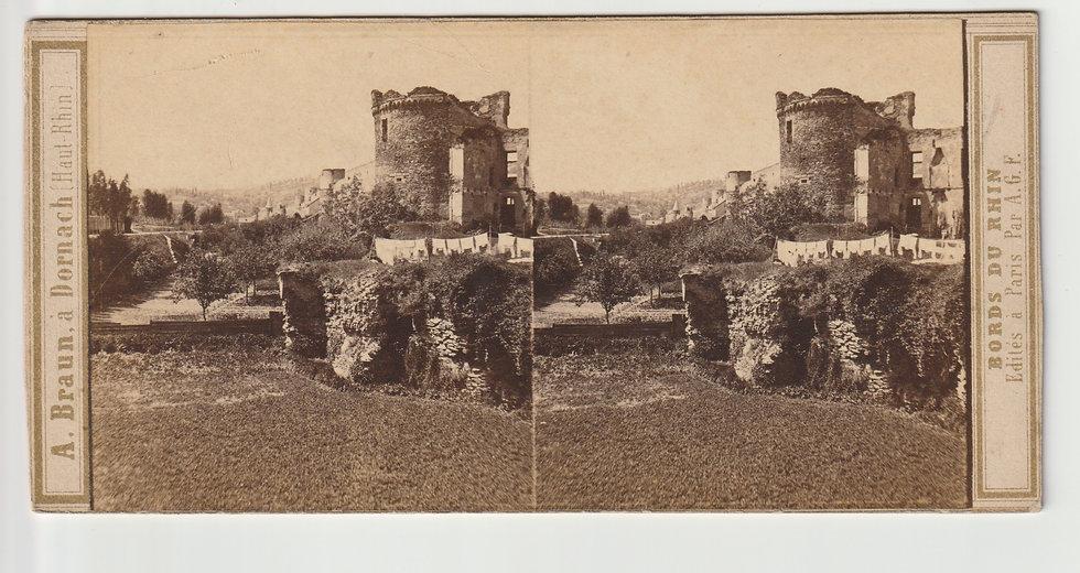 Stereoview of das Schloss von Pfalz, Germany by Adolphe Braun. c1860/65