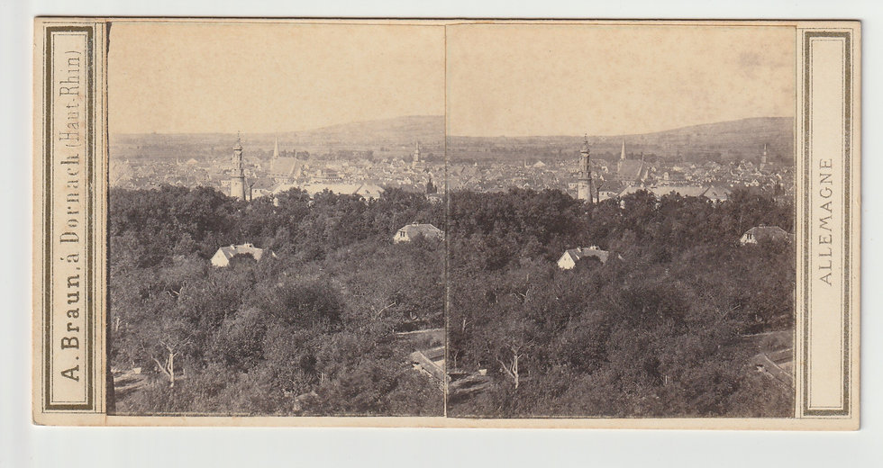 Stereoview of Weimar, Germany by Adolphe Braun c.1865/70
