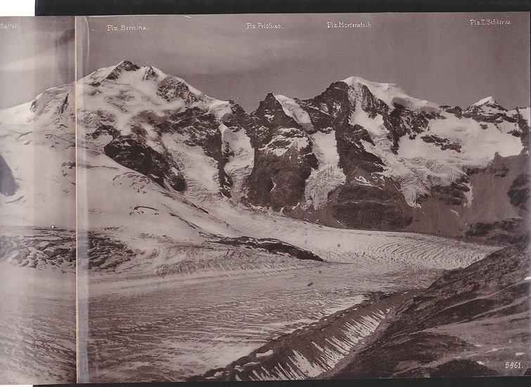 Panorama of the Bernina Mountain Range c 1900