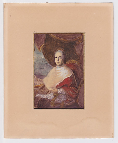Unusual early painted carte-de-visite of a pope