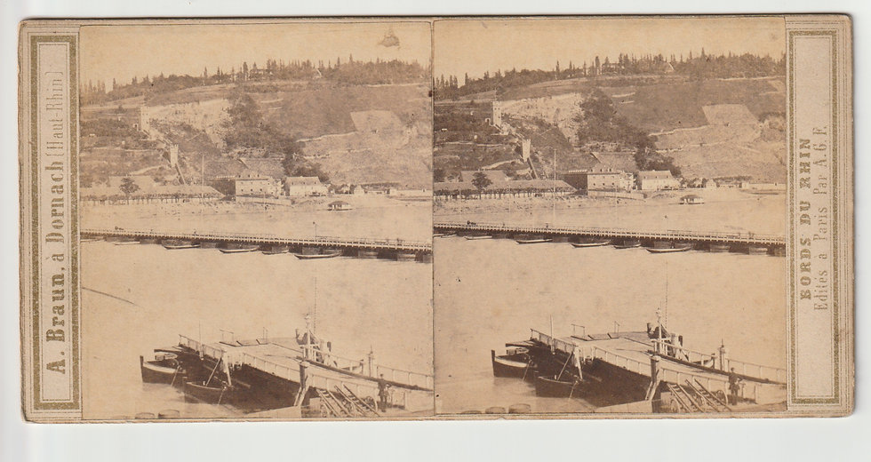 Stereoview of Ehrenbreitstein, Germany by Adolphe Braun. c1860/65