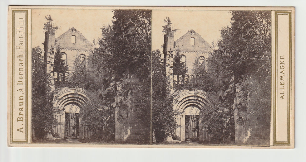 Stereoview of Paulinzella, Germany by Adolphe Braun c.1865/70