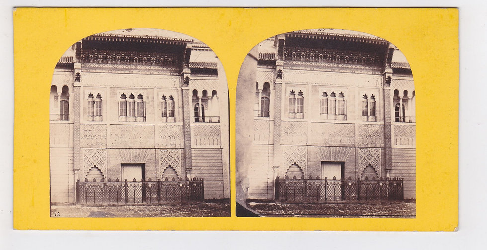 Early stereoview of Sevilla, Spain - L' Andalousie - Furne & Tourn