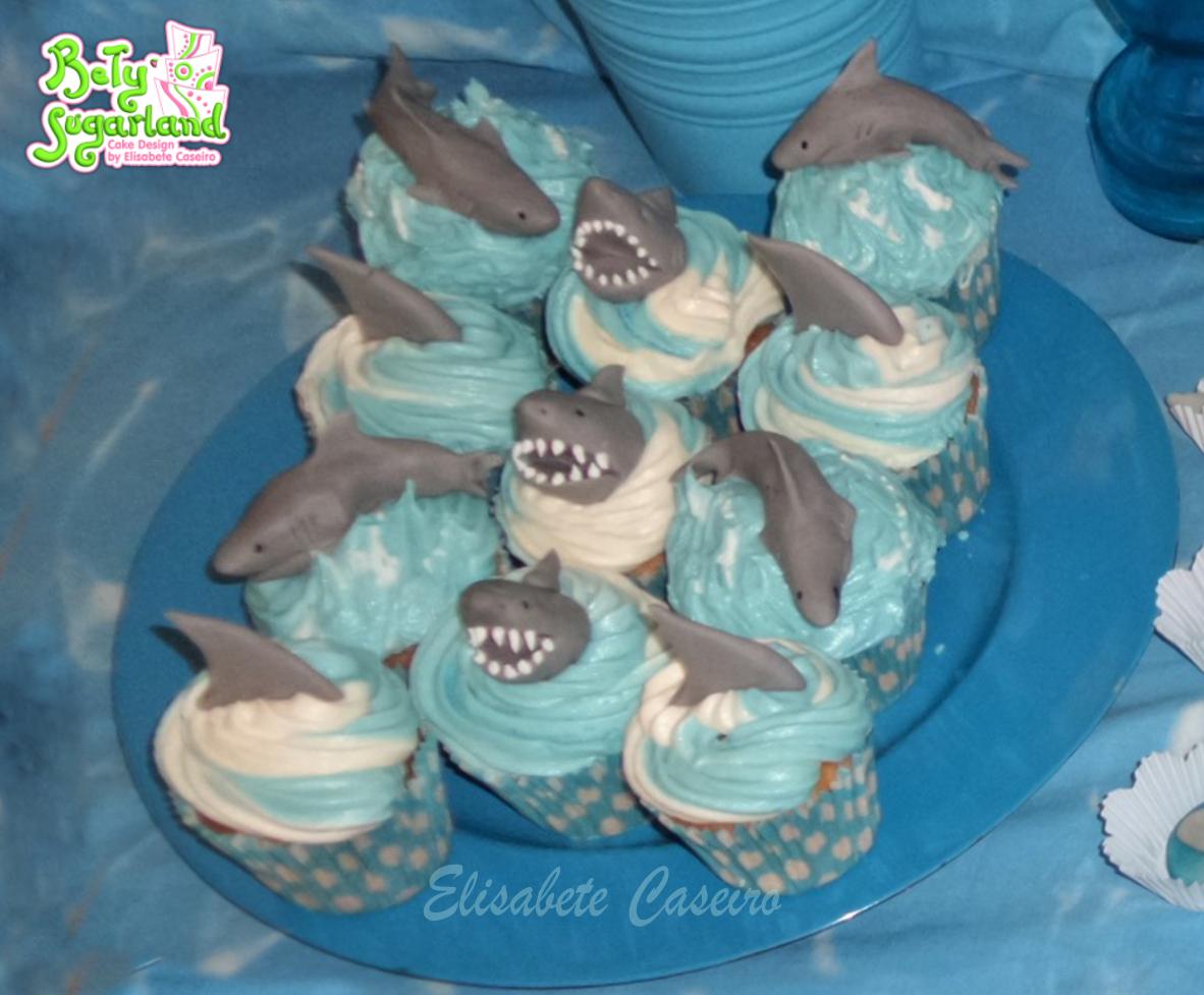 Cupcakes Tubarões