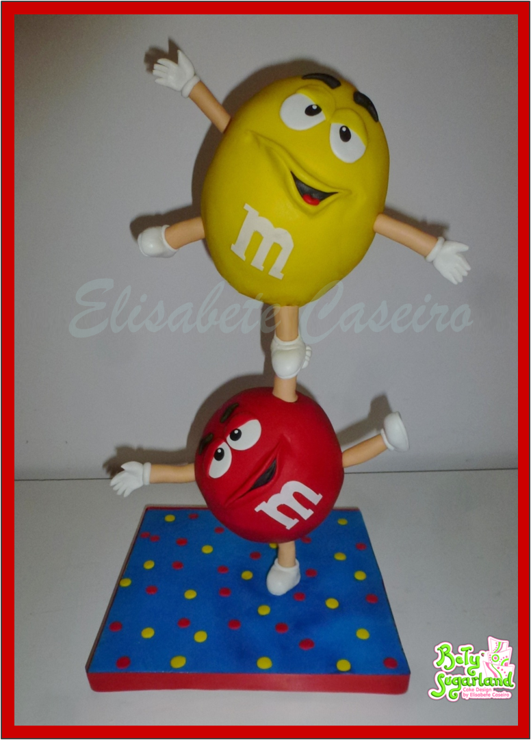 M&M gym cake