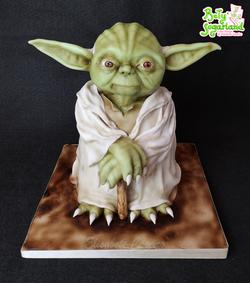 Bolo do Yoda
