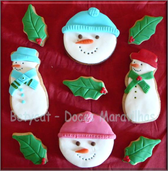 Bolachas de Natal - bonecos de neve