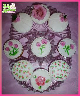 Cupcakes floridos