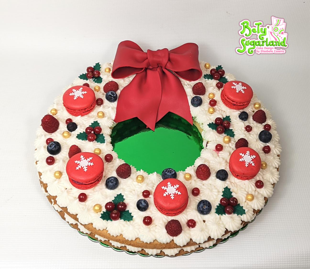 Cream Tart Coroa de Natal