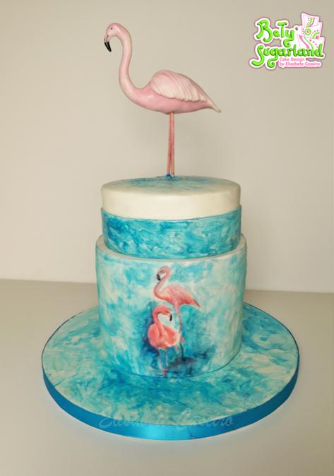Flamingos pintura