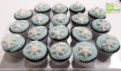 Cupcakes flocos de neve