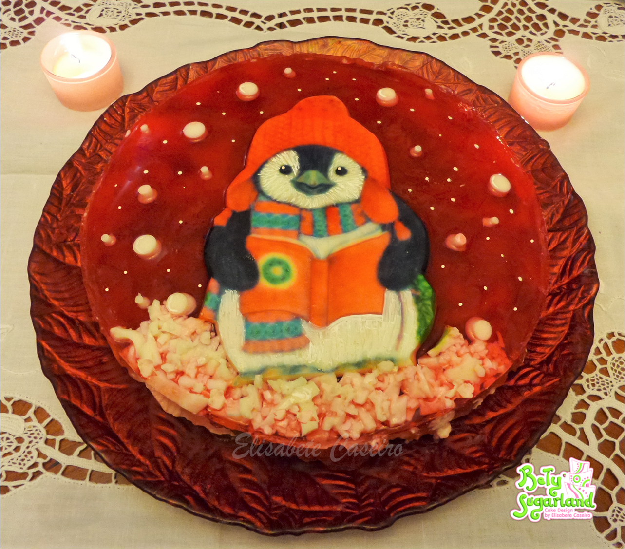 Cheesecake Decorado Pinguim