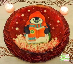 Cheesecake Decorado Pinguim