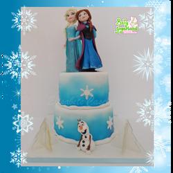 Bolo Frozen elsa e anna