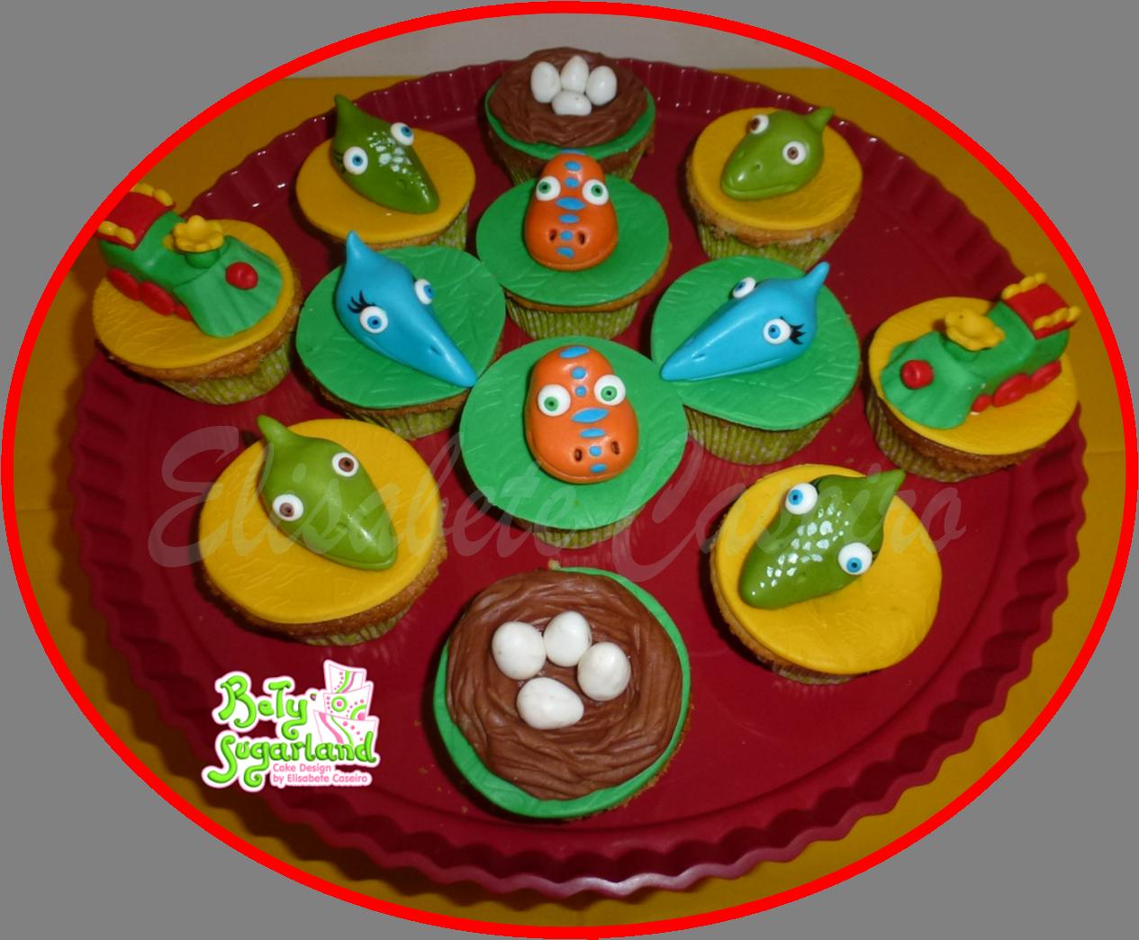 comboio dos dinossauros cupcakes